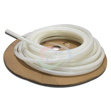 Braided bev-lex hose, White tracer